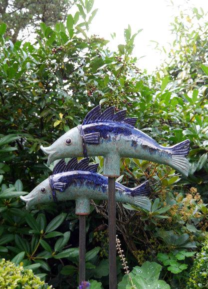 Keramik Kunst Für Den Garten fisch   margit hohenberger   keramik kunst