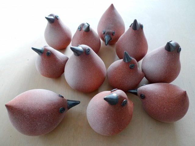 Keramik Hühner