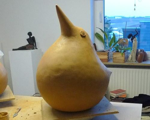 Kunst Vogel fast fertig 2010