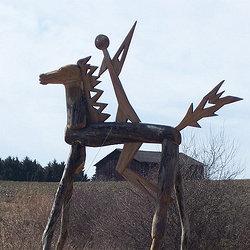 Landschaft Kunst - der apokalyptische Reiter