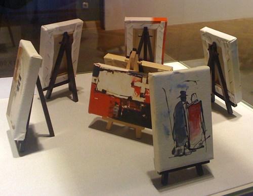 Dominik Lommer Miniaturen Reproduktionen Kunstverein Hof 2010