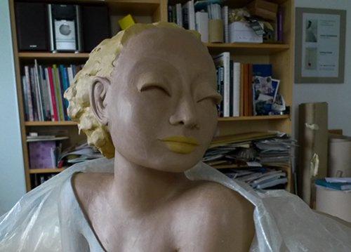 Engel-Büste Engelfigur Profil
