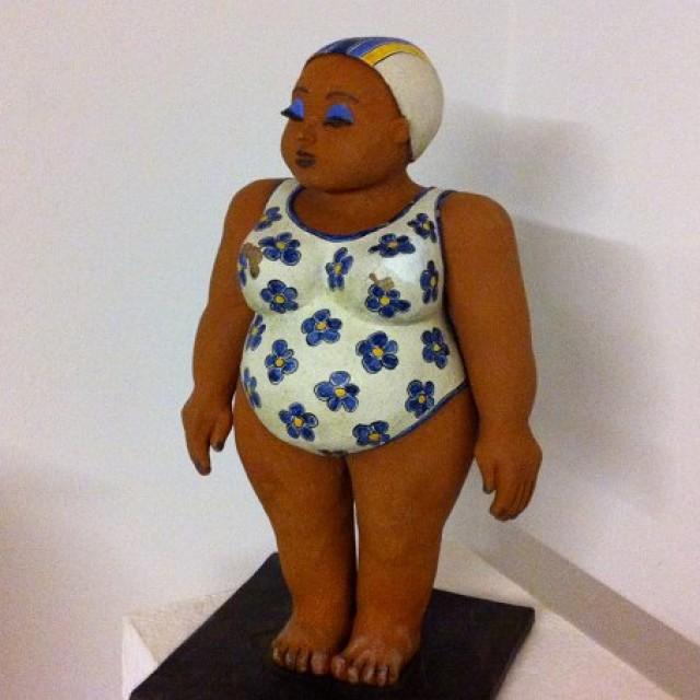 Keramikfigur Olga - meine allererste Badenixe!