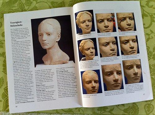 Berit Hildre: Buchausschnitt - Gesichtsausdruck Melancholie
