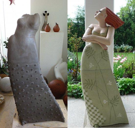 Große Tonfiguren Für Den Garten Keramik Kunst Blog