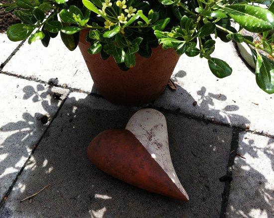 Gartendekoration Herz (Keramik)