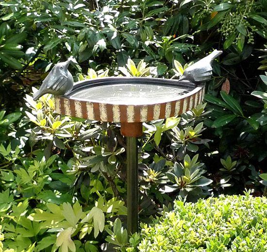 Vogeltränke - Margit Hohenberger - Garten- und Keramik Kunst