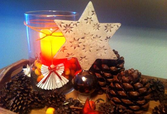 Weihnachtsstern im Dezember 2011 - Keramik
