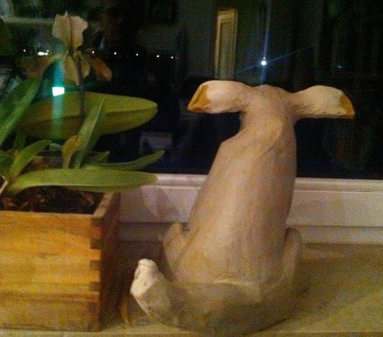 Keramik Figur Lumpi Hund (Gromit like)
