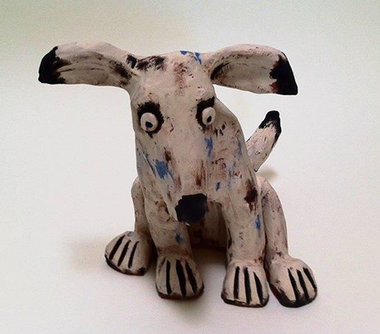Hundefigur Lumpi aus Keramik