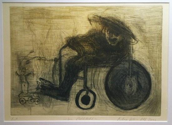 Im Rollstuhl - Kunst von Barbara Mäder Ruff