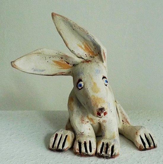 Osterhasen aus ton keramik kunst blog - Ideen aus ton ...
