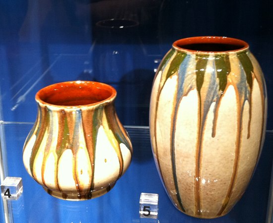 Keramik Glasuren auf Vasen - Theodor Keerl