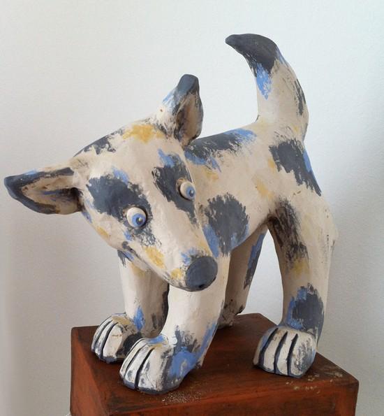 Kleiner Hund aus Keramik - lustige Tierfiguren