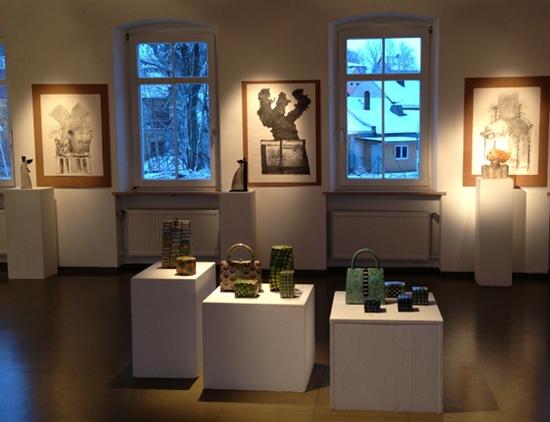 Keramik Kunst & Popart-Raku + Zeichnungen in Münchberg 2012