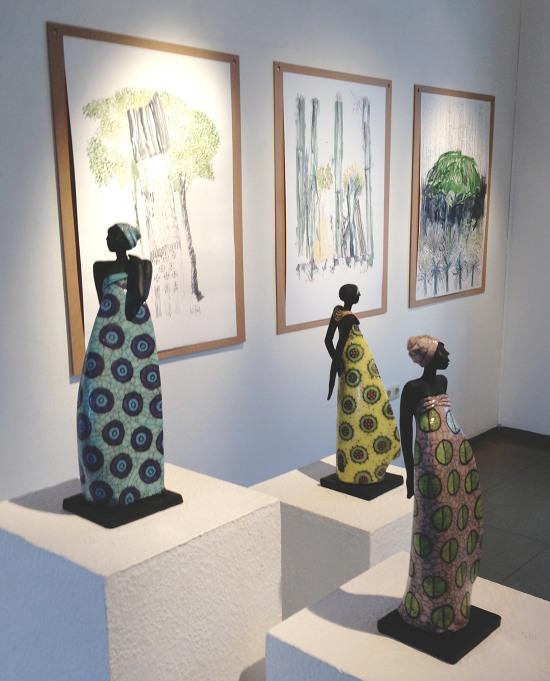 Keramik Kunst von Margit Hohenberger und Zeichnungen von Udo Rödel 2012