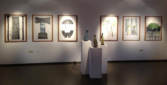 Ausstellung Popart-Raku und Zeichnungen In Münchberg 2012