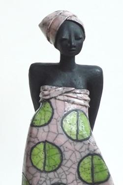 Rakufigur: Afrikanerin mit Turban