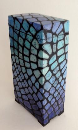 Tierurne - Keramik blau glasiert - Keramik Kunst