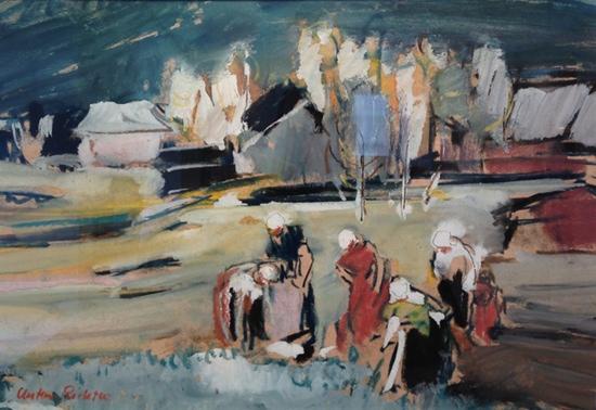 Anton Richter - Auf dem Feld