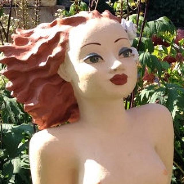 Meerjungfrau – Skulptur mit Muscheln
