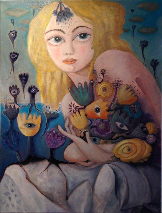 Blumige: Gemälde von Marion Lucka (2009)