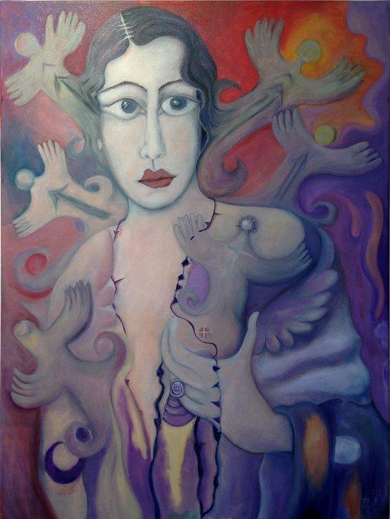Befreite: Frauenportrait von Marion Lucka