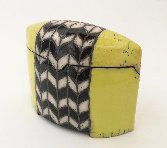 keramik-dose-gelb-schwarz-2014