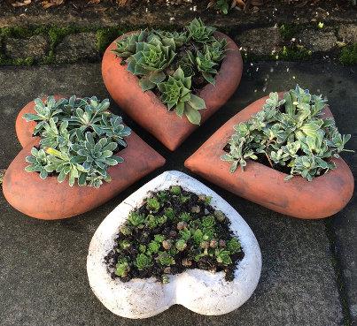 Keramik Gartendeko - Keramikherzen