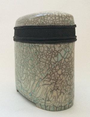 Raku Keramik Dose oval