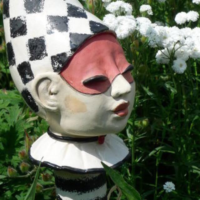 Gartenkeramik Figur Harlekin