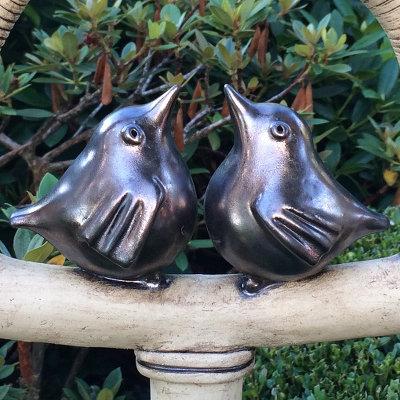 Keramik Vögel aus Ton - Vogelhochzeit