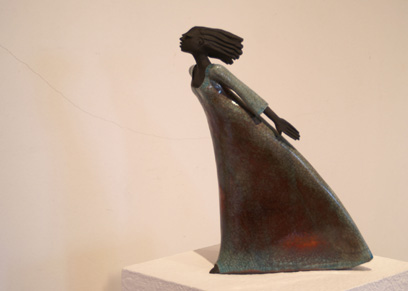 Keramik Kunst Margit Hohenberger 2007 Im Sturm