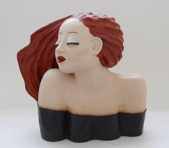 Büste - träumende Frau