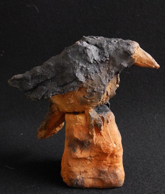 Abraxas - Rabenvogel aus Keramik