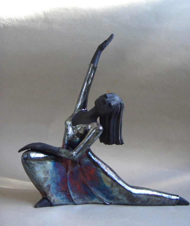 Flashdance – Raku Kunst Skulptur