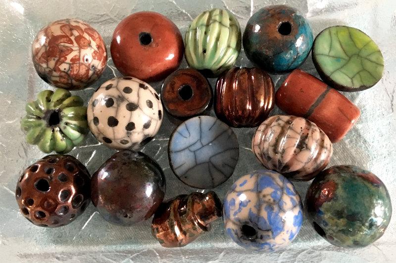 Keramik Perlen bunt