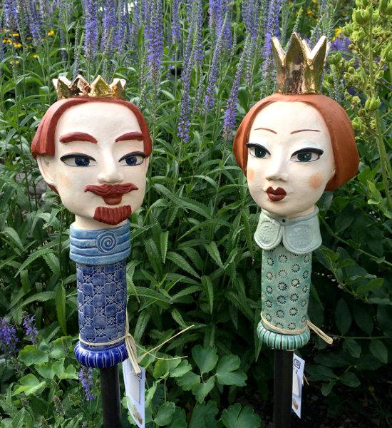 Deko Gartenstecker König und Königin