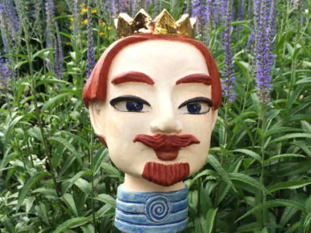 König und Königin als Deko Gartenstecker