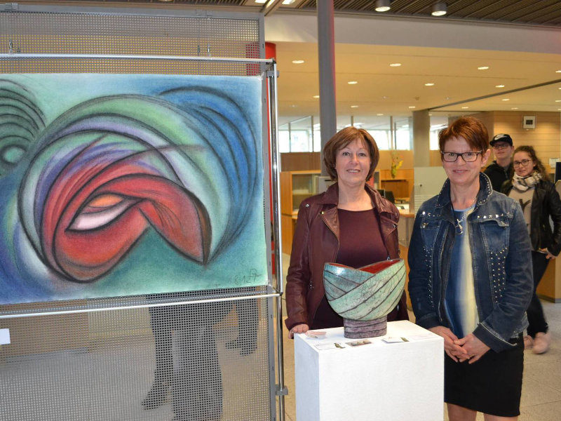 Margit Hohenberger und Gertraud Fischer, Selber Kunstnacht 2017