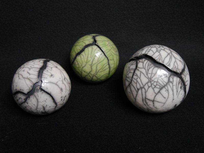 Raku Keramik Kugeln mit Riss