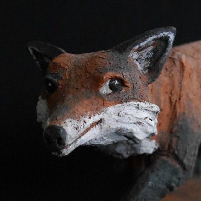 Fuchs Mikkel - Tierfigur von Margit Hohenberger