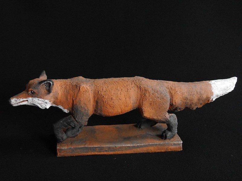 Keramik Fuchs Mikkel - Tierfigur von Margit Hohenberger