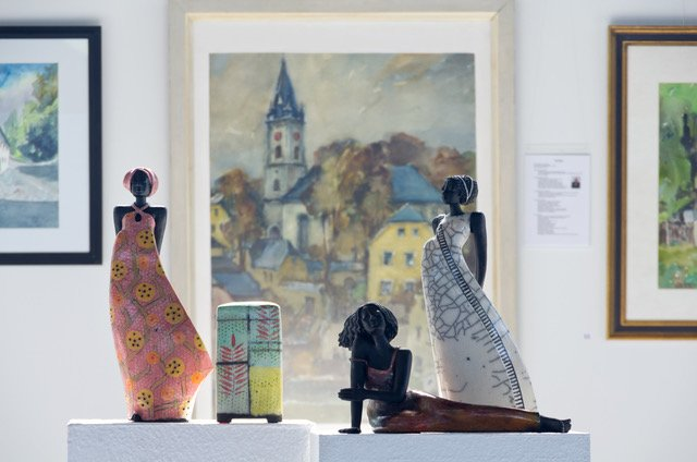 Keramikfiguren Ausstellung Schwarzenbacher Maler 2019